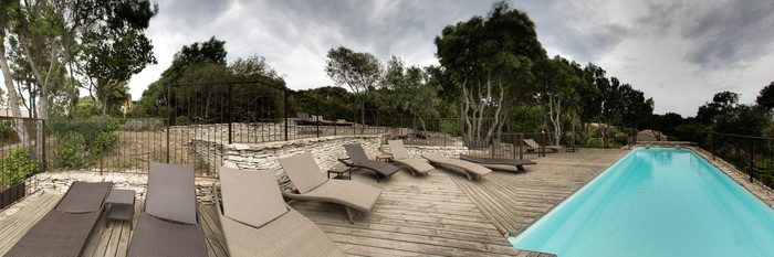 Panorama of the Pool at the Residence Sophia