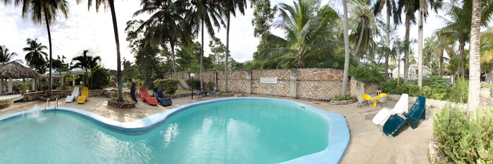 Panorama of the Pool at the Hotel Cyvadier
