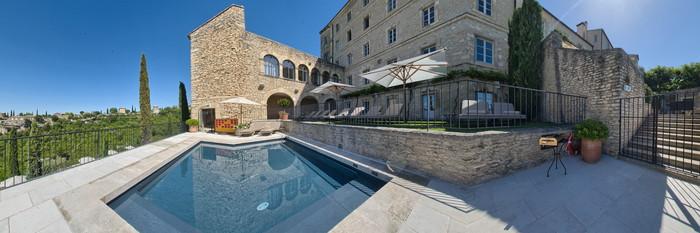 Panorama of the Pool at the La Bastide de Gordes