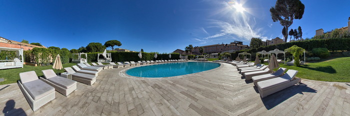 Panorama of the Pool at the Gran Meliá Rome