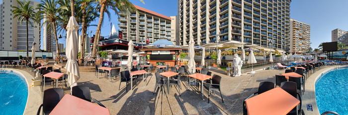 Panorama of the Pool at the Hotel Marina Resort Benidorm