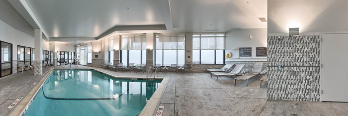 Panorama of the Pool at the Hampton Inn & Suites Portsmouth Downtown