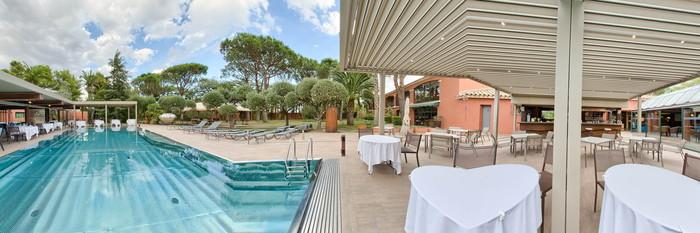 Panorama of the Pool at the La Villa Duflot