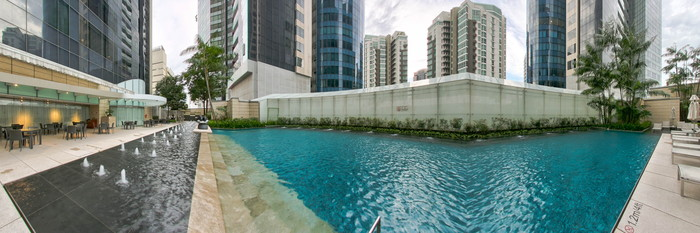 Panorama of the Pool at The St. Regis Singapore