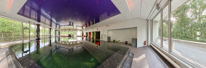 Panorama of the Pool at the Crowne Plaza Antwerpen