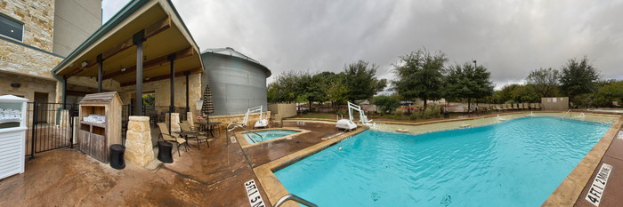 Panorama of the Pool at the Holiday Inn San Antonio NW - Seaworld Area