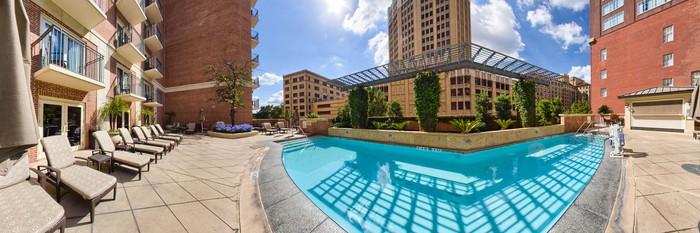 Panorama of the Pool at The Westin Riverwalk, San Antonio