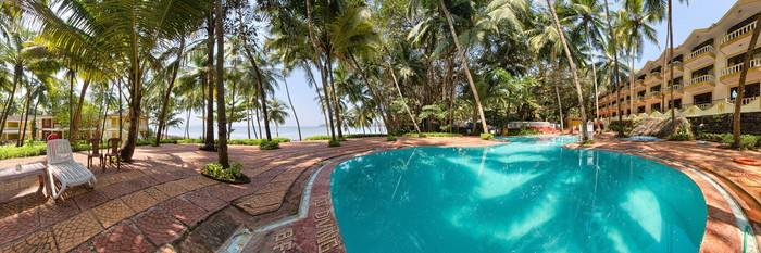 Panorama of the Pool at the Bambolim Beach Resort