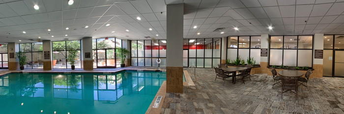 Panorama of the Pool at the Embassy Suites by Hilton Dallas Love Field