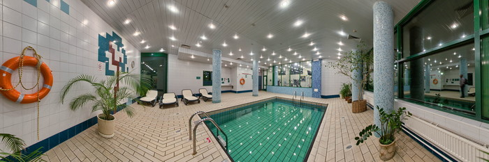 Panorama of the Pool at the Holiday Inn Moscow Vinogradovo