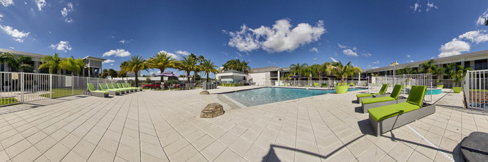Panorama of the Pool at the Clarion Inn & Suites