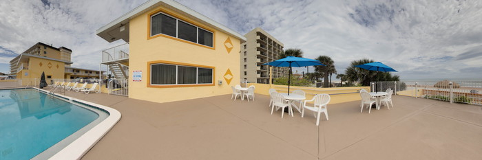 Panorama of the Pool at the OceanFront Inn and Suites
