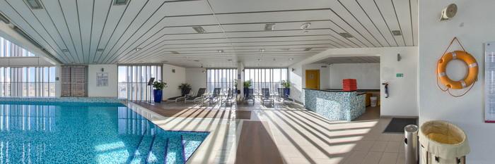 Panorama of the Pool at the Hala Arjaan by Rotana Abu Dhabi