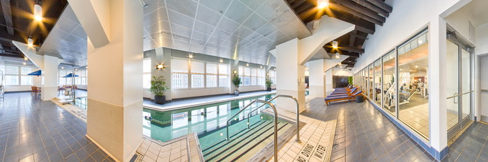 Panorama of the Pool at the Loews Philadelphia Hotel