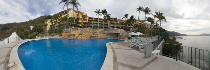 Panorama of the Pool at the Camino Real Acapulco Diamante