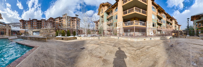 Panorama of the Pool at the Hyatt Centric Park City