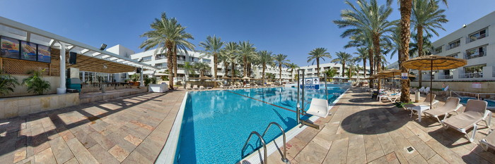 Panorama of the Pool at the Leonardo Royal Resort Hotel Eilat
