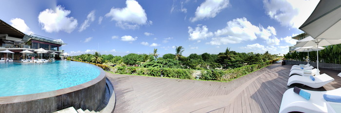 Panorama of the Pool at the Sheraton Bali Kuta Resort