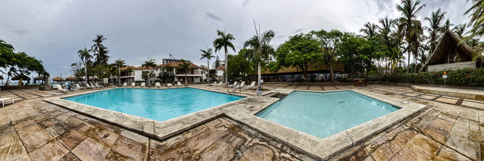Panorama of the Pool at the Estelar Santamar Hotel & Convention Center