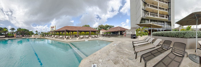 Panorama of the Pool at the Sheraton Santo Domingo