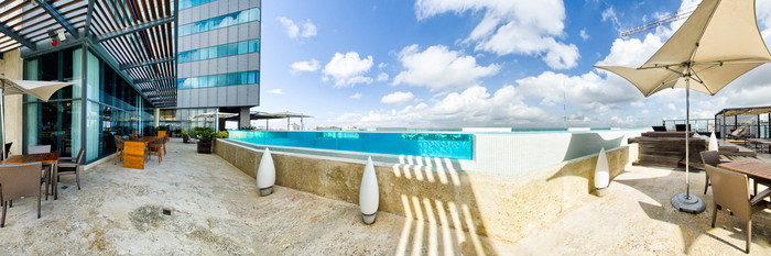 Panorama of the Pool at the JW Marriott Hotel Santo Domingo
