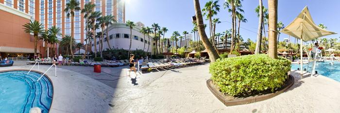 Panorama of the Pool at the Treasure Island - TI Hotel & Casino