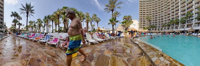 Panorama of the Pool at the Holiday Inn Resort Panama City Beach