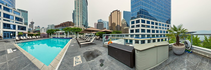 Panorama of the Pool at the Fairmont Waterfront