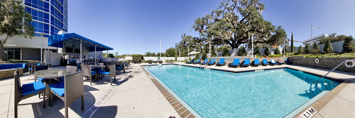 Panorama of the Pool at the Four Points by Sheraton Tallahassee Downtown