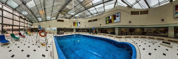 Panorama of the Pool at the Hongqiao Jin Jiang Hotel