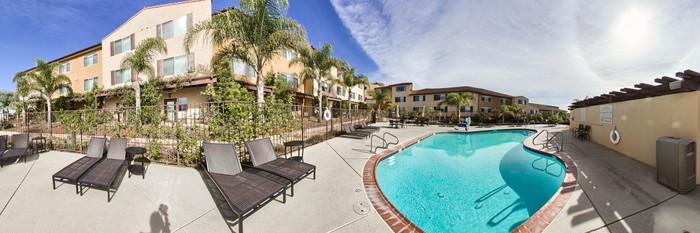 Panorama of the Pool at the Hilton Garden Inn Pismo Beach