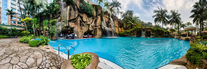 Panorama of the Pool at the Sunway Pyramid Hotel