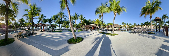 Panorama of the Pool at the Barcelo Maya Caribe