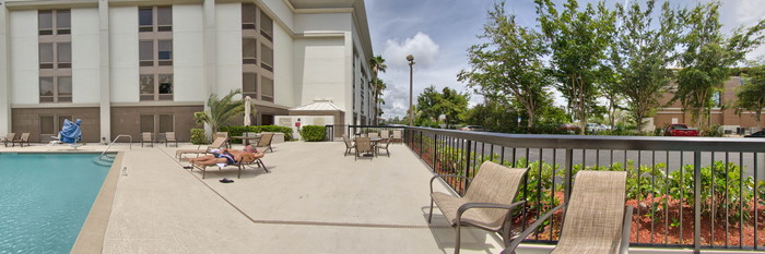 Panorama of the Pool at the Hampton Inn Central Naples