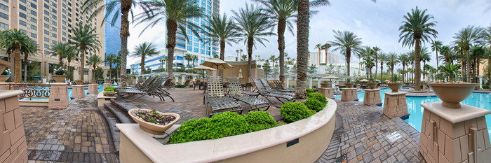 Panorama of the Pool at the Hilton Grand Vacations on the Boulevard