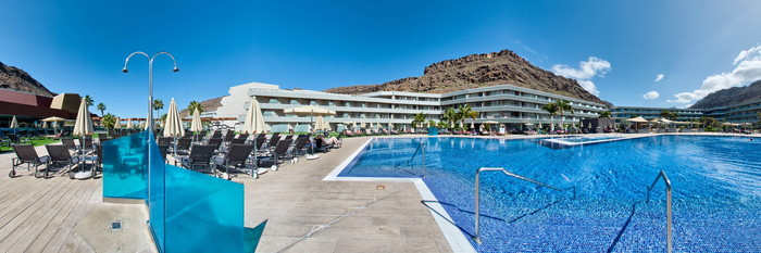 Panorama of the Pool at the Radisson Blu Resort & Spa, Gran Canaria, Mogan