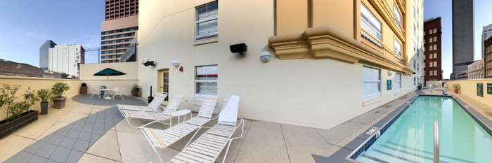 Panorama of the Pool at the La Quinta Inn & Suites New Orleans Downtown