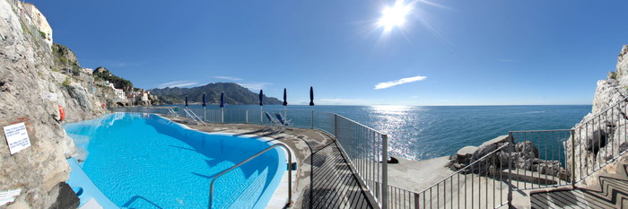 Panorama of the Pool at the Hotel Luna Convento