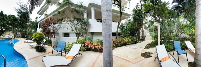 Panorama of the Pool at the Riviera Maya Suites