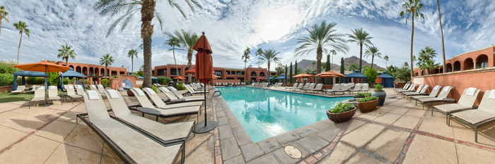 Panorama of the Pool 2 at the Omni Scottsdale Resort & Spa at Montelucia