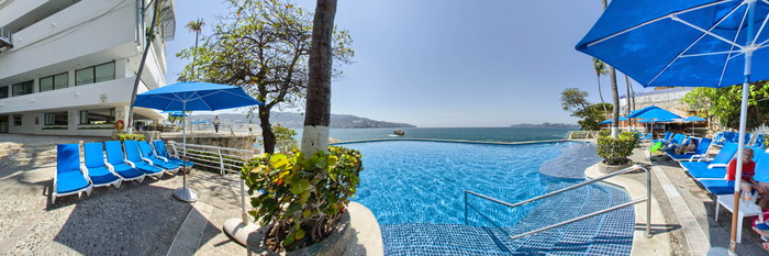 Panorama of the Pool-2 at the Holiday Inn Resort Acapulco