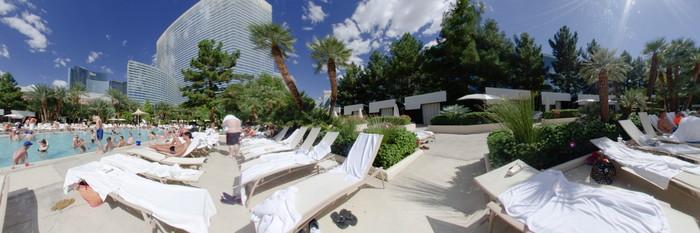 Panorama of the Pool II at the ARIA Resort & Casino