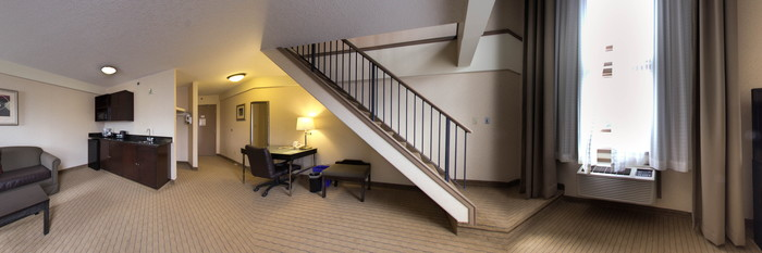 Panorama of the Premier Suite at the Holiday Inn Canmore