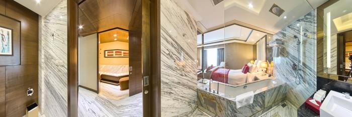 Panorama of the Premium Room at the Radisson Blu Jaipur