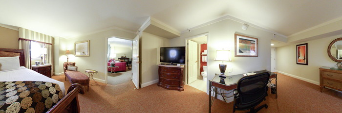 Panorama of the Presidential Suite at the Astor Crowne Plaza - New Orleans French Quarter