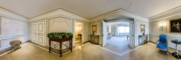 Panorama of the Presidential Suite at the Four Seasons Hotel Ritz Lisbon