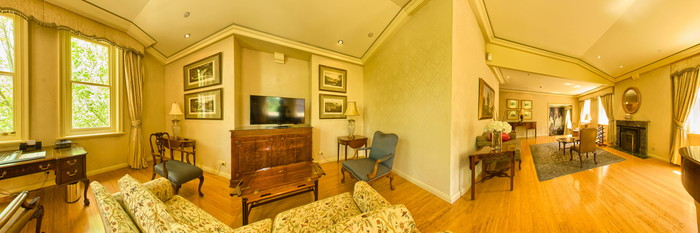 Panorama of the Presidential Suite at the Sir Stamford at Circular Quay