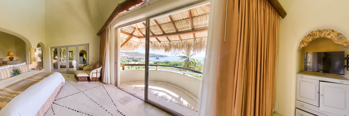 Panorama of the Presidential Suite at the Quinta Real Huatulco