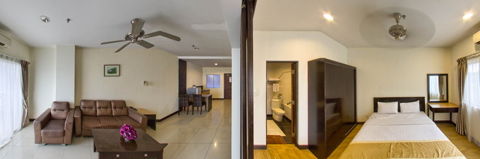 Panorama of the Regency Apartment at the Tower Regency Hotel