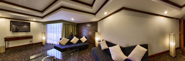 Panorama of the Renovated King Superior Suite at the Holiday Inn Guatemala